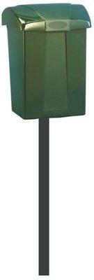 Ptt brievenbus Cofa groen zonder slot met paal (leverbaar rond 25 mei 2018)