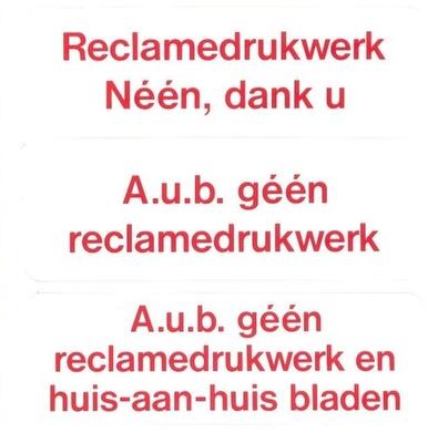 Brievenbussticker JA/NEE stickers