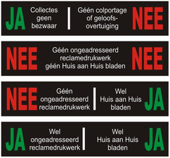 JA/NEE stickers