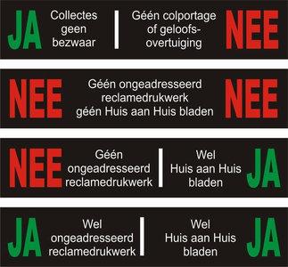JA/NEE stickers brievenbus
