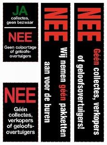 JA/NEE stickers set van 4 klein en groot