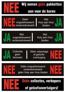 JA/NEE stickers set van 6